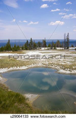 Stock Photo of USA, Wyoming, West Thumb Geyser Basin, Yellowstone.
