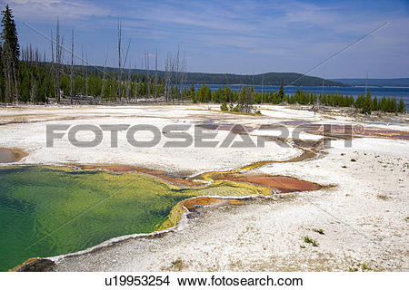 Stock Photo of Abyss Pool, West Thumb Geyser Basin, Yellowstone.