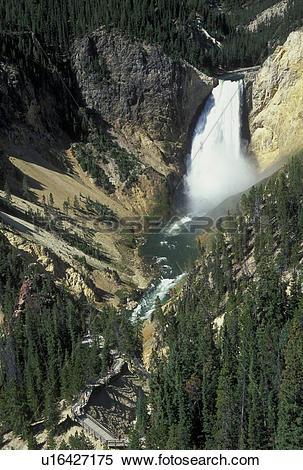 Stock Image of Yellowstone National Park, WY, Wyoming, Yellowstone.