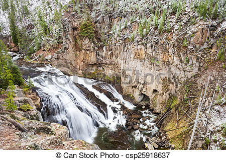 Stock Photos of September Snow on the Yellowstone River.