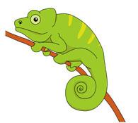 Free Chameleon Clipart.