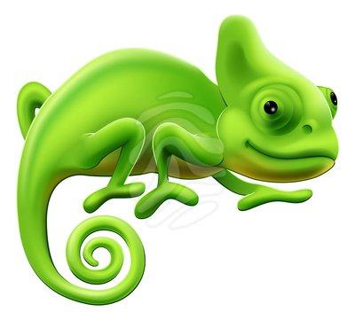Chameleon clip art.