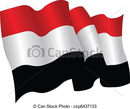 Vectors of yemen flag.