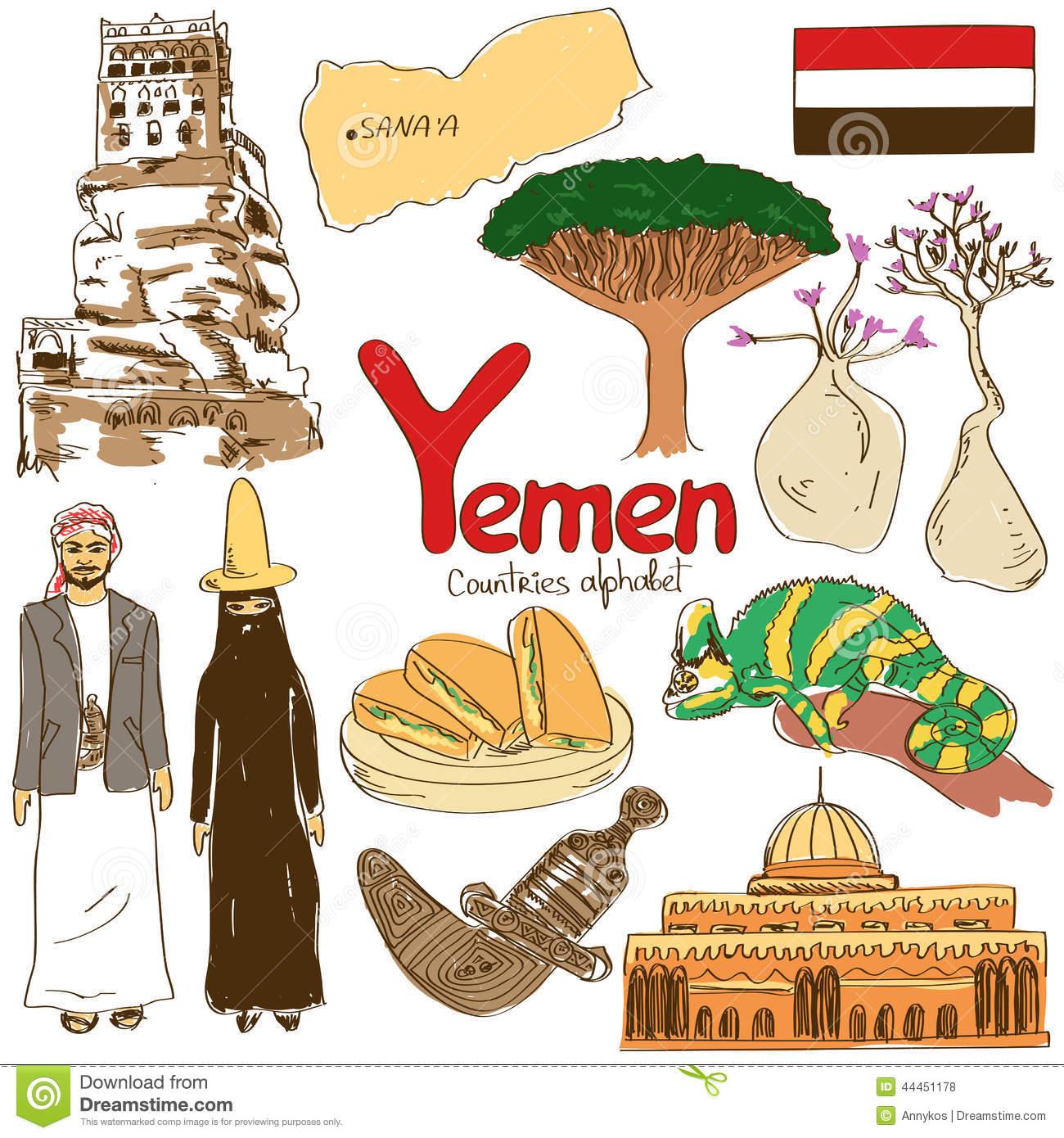 Yemen Map Vector, Yemen Flag Vector, Isolated Yemen Stock Vector.