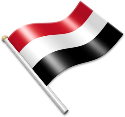 Flag Icons of Yemen.