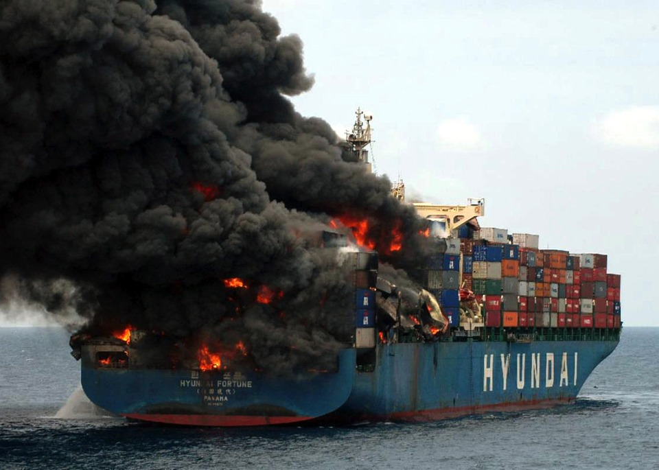 Free photo: Yemin Ship, Cargo, Transport, Fire.