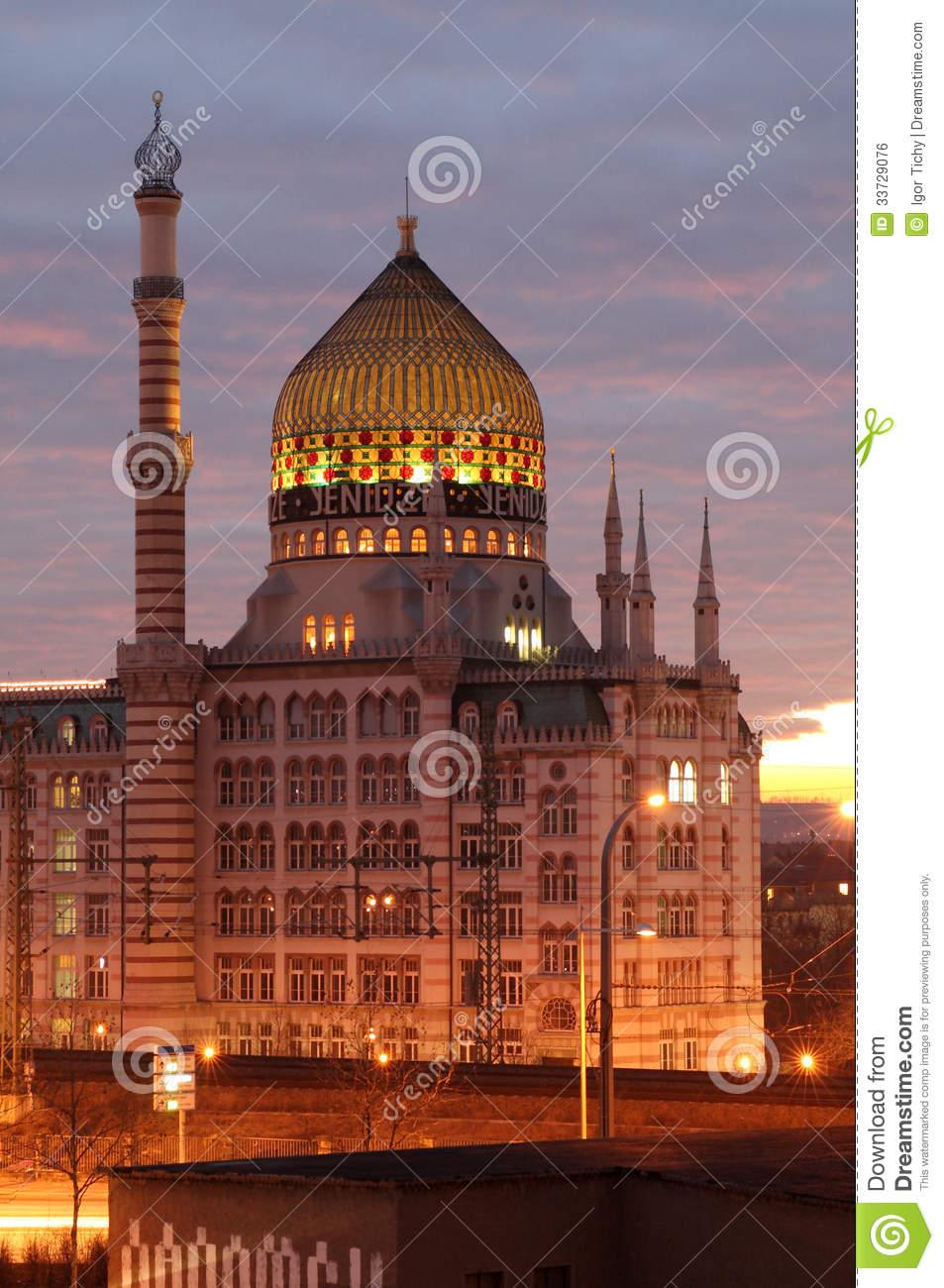 Yenidze At Dusk Royalty Free Stock Image.