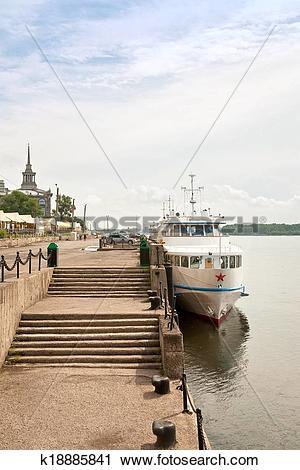 Stock Photography of Yenisei river embankment k18885841.