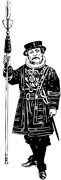 Yeoman Of The Guard Bw clip art Free Vector / 4Vector.