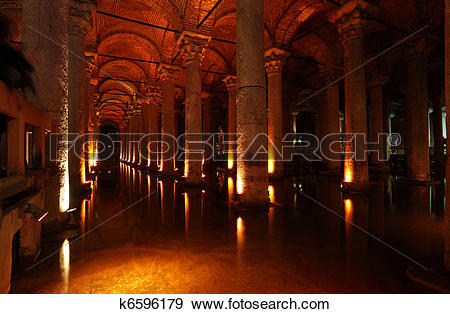 Stock Photograph of The Basilica Cistern (turkish Yerebatan.