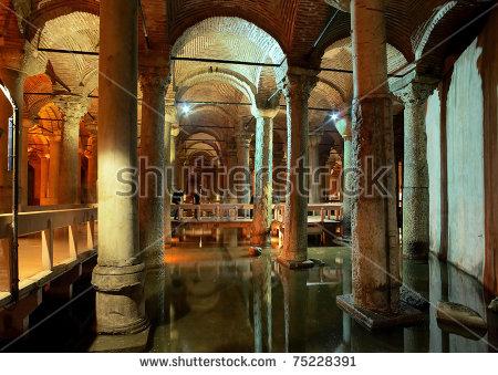 Underground Basilica Cistern (Yerebatan Sarnici) In Istanbul.