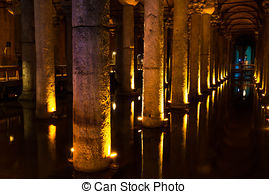Picture of Basilica Cistern in Istanbul.