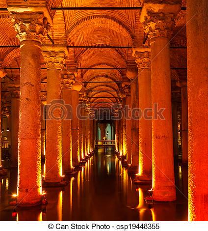 Stock Images of Underground Basilica Cistern (Yerebatan Sarnici.