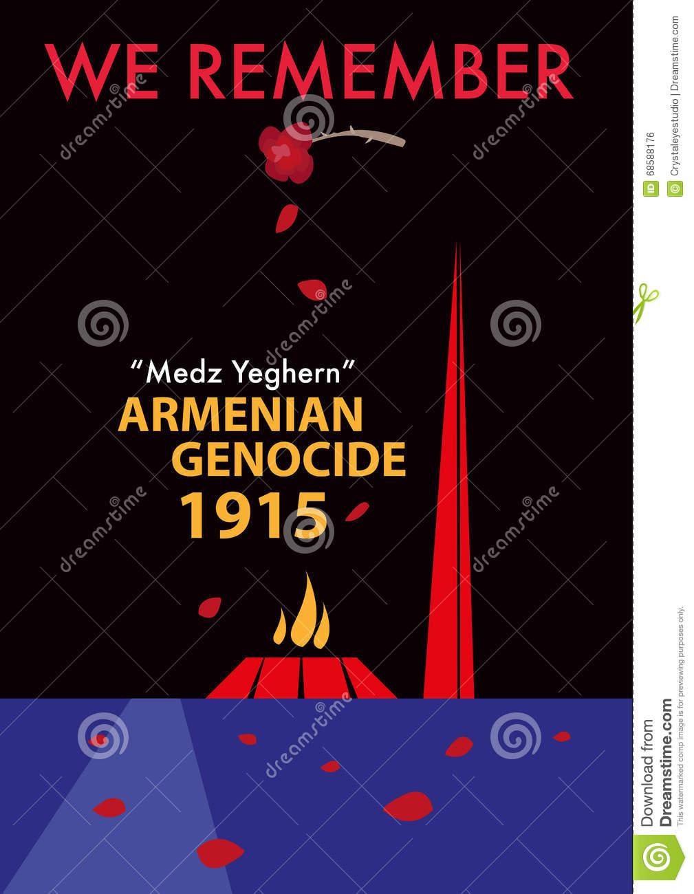Armenian Genocide Memorial Concept. Editable Clip Art. Stock.