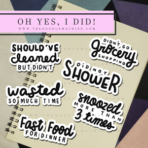 OH YES, I DID! ( CLIPART SET ).