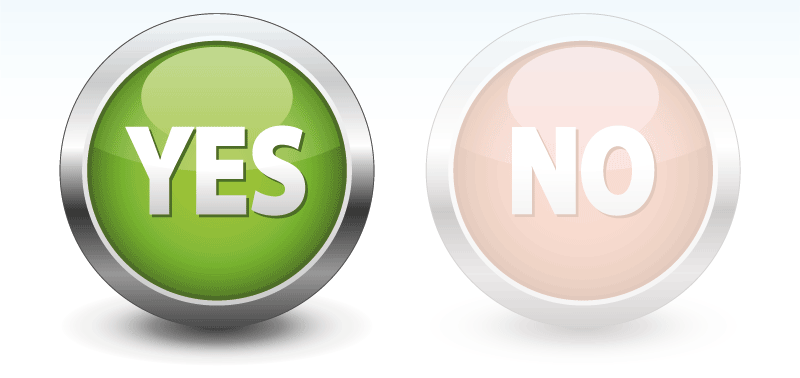 Yes no button png #39567.