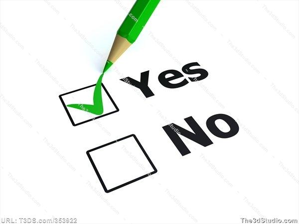 Vote yes clip art.
