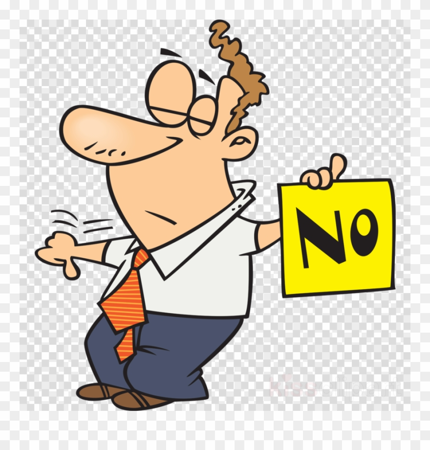 Dad Saying No Clipart Royalty.