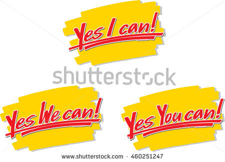 Yes We Can Stock Images, Royalty.