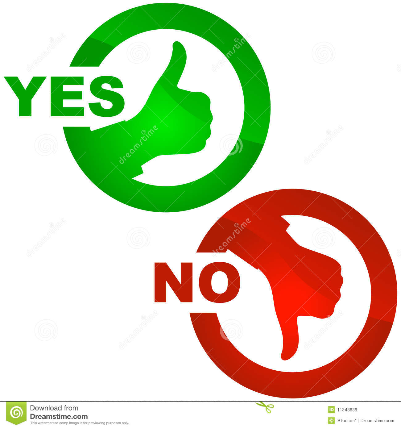 Clipart Yes No.