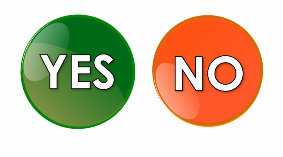 Yes No Button Orange Green Icon Symbol Sign.