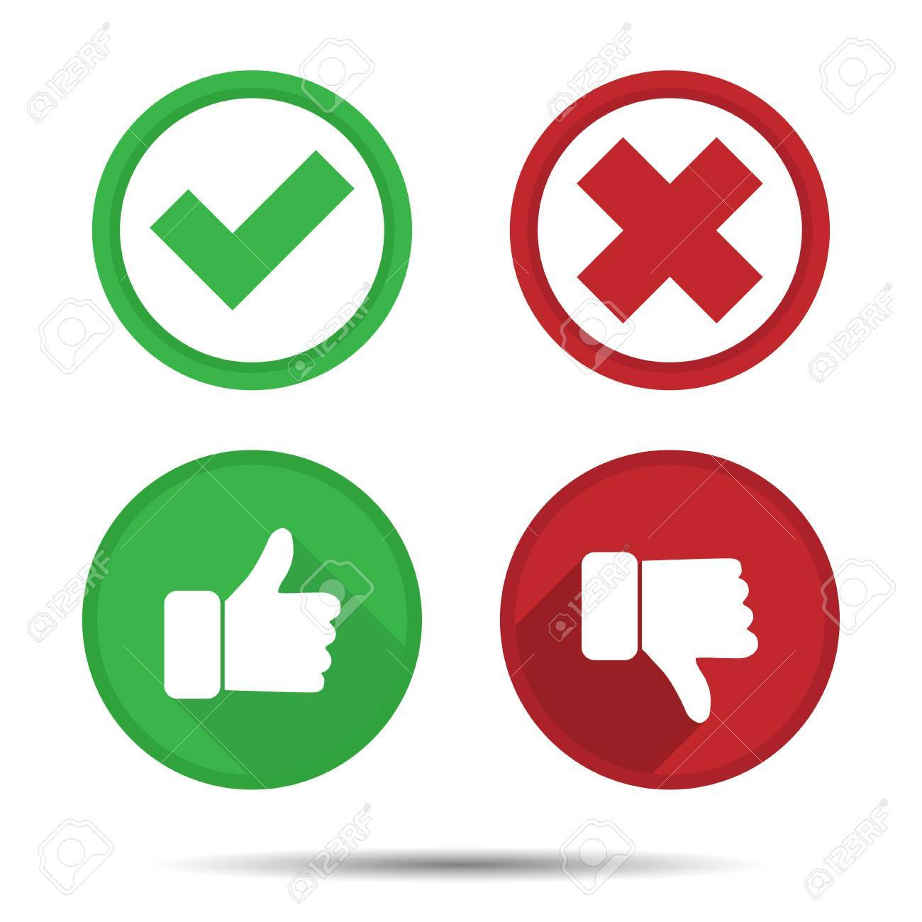 Thumbs up and Thumbs down, Yes, No, icons » Clipart Station.