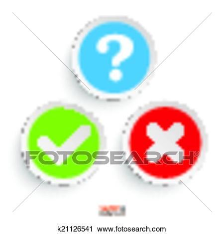 Question Yes No Round Icons Clipart.