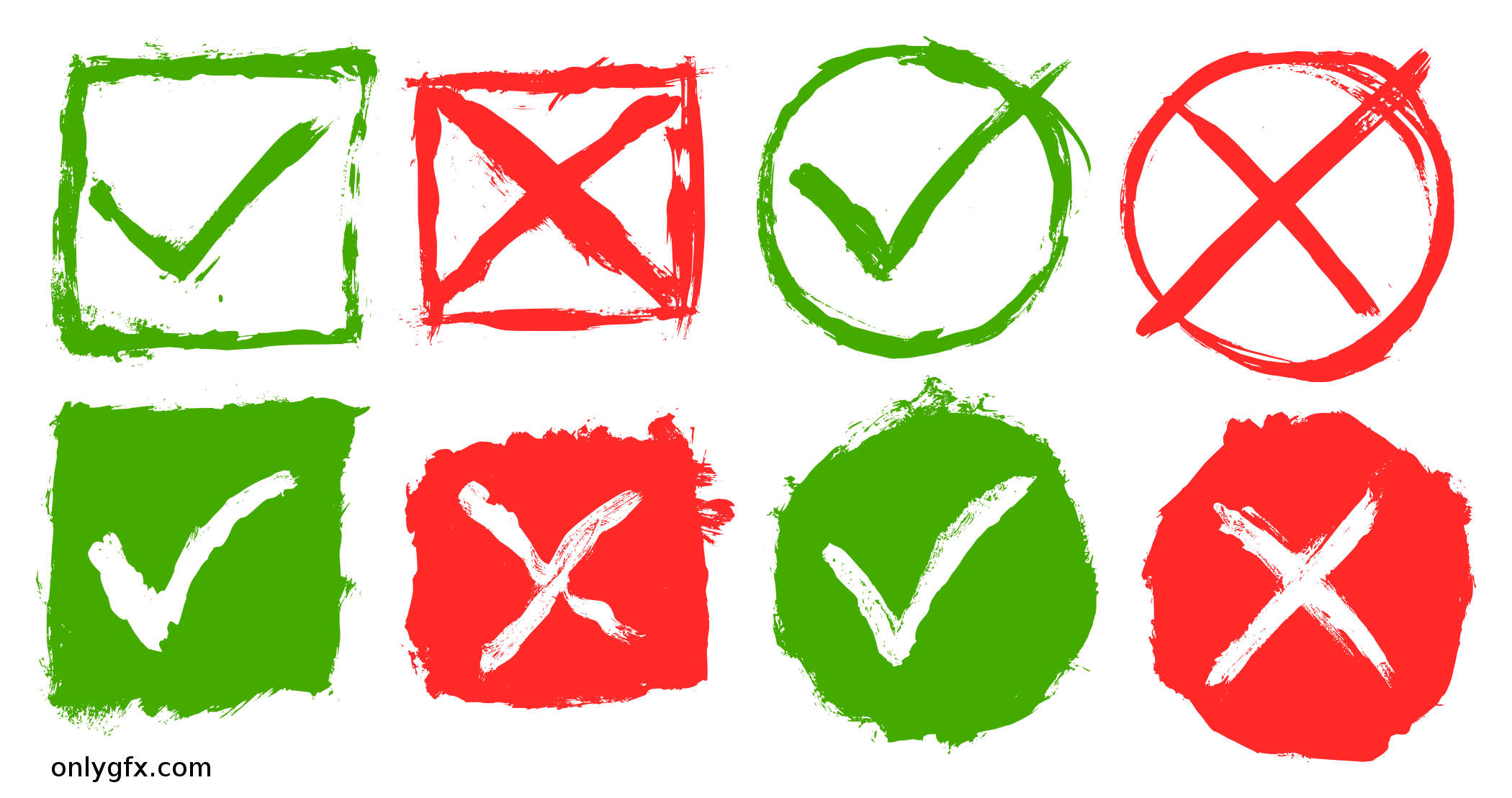 8 Grunge Yes No Icon (PNG Transparent).