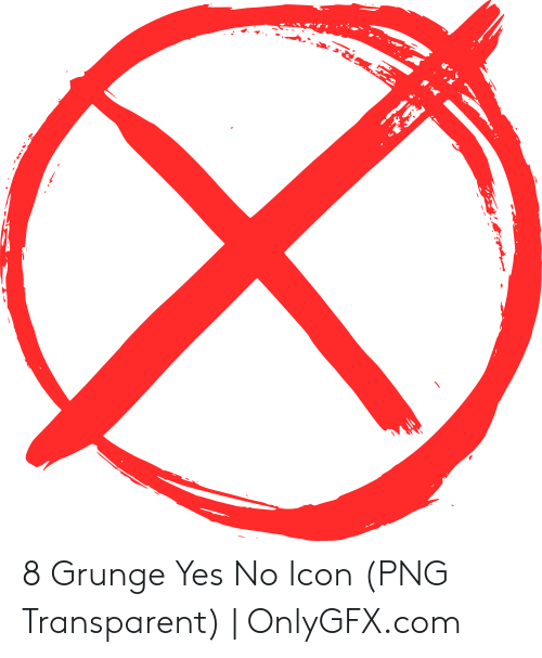 8 Grunge Yes No Icon PNG Transparent.