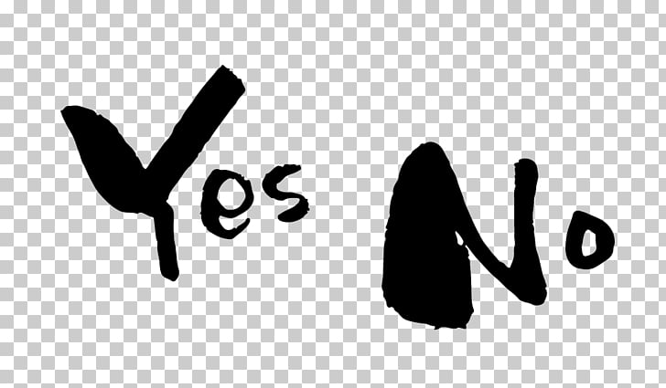 Yes No Maybe Ink brush Desktop , others PNG clipart.