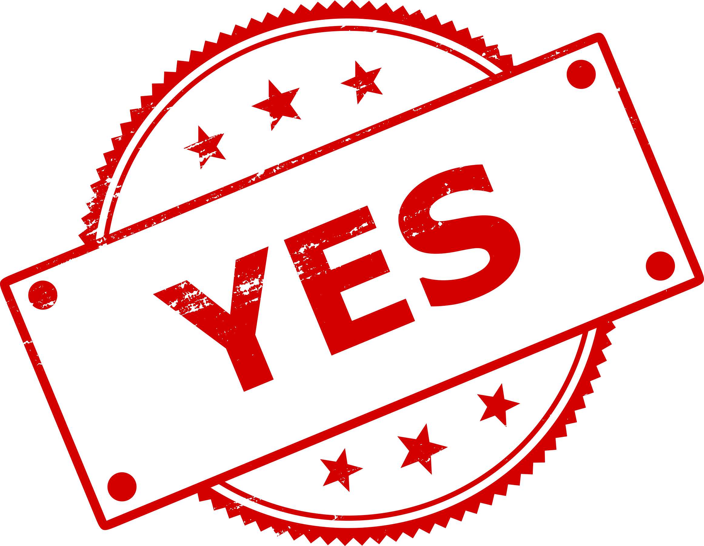 8 Yes No Stamp (PNG Transparent).