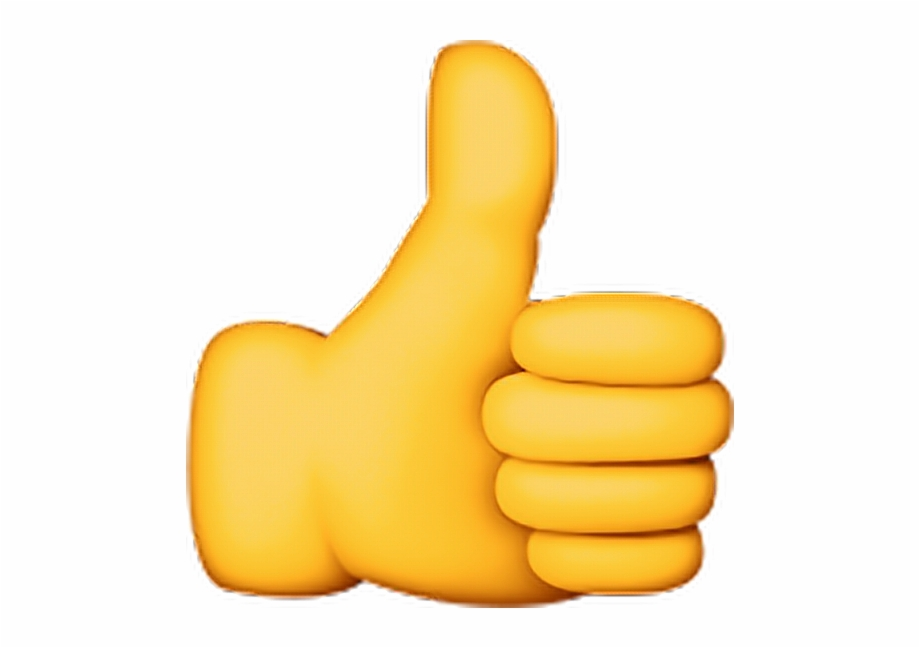 Clipart Ok Thumbsup Good Yellow Fine Emojisticker Yes.