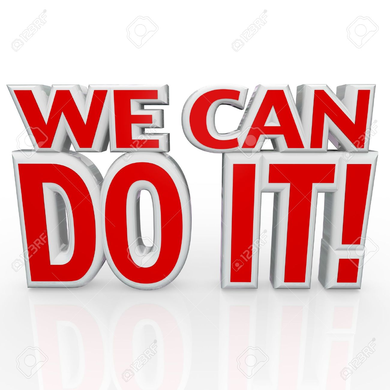 Together We Can Do It Clip Art.