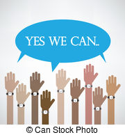 Yes we can Clipart Vector and Illustration. 45 Yes we can clip art.