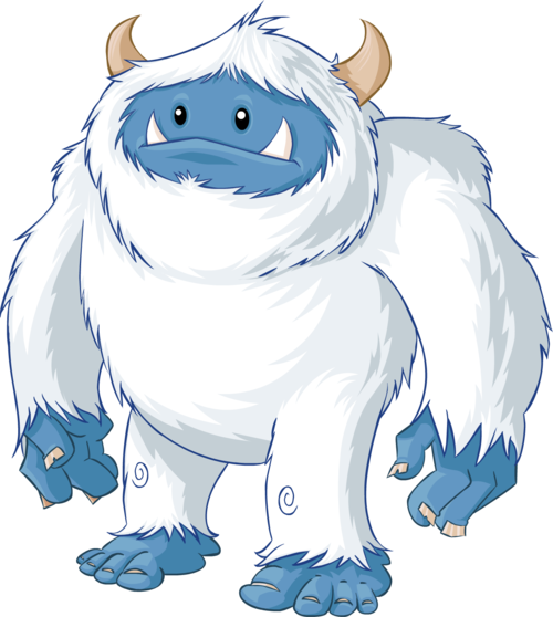 Angry yeti clipart.