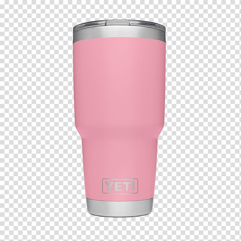 YETI Rambler Tumbler Pink Cooler, pink drink transparent.