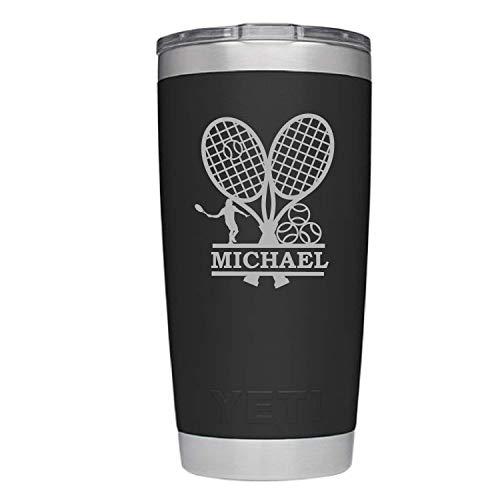 Amazon.com: YETI Rambler Male Tennis Design w/Custom Name.