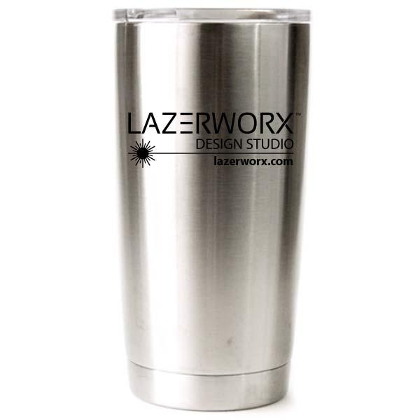 Custom Logo Laser Engraved Yeti or Ozark Trail 20 oz or 30 Oz Stainless  Steel Tumbler.