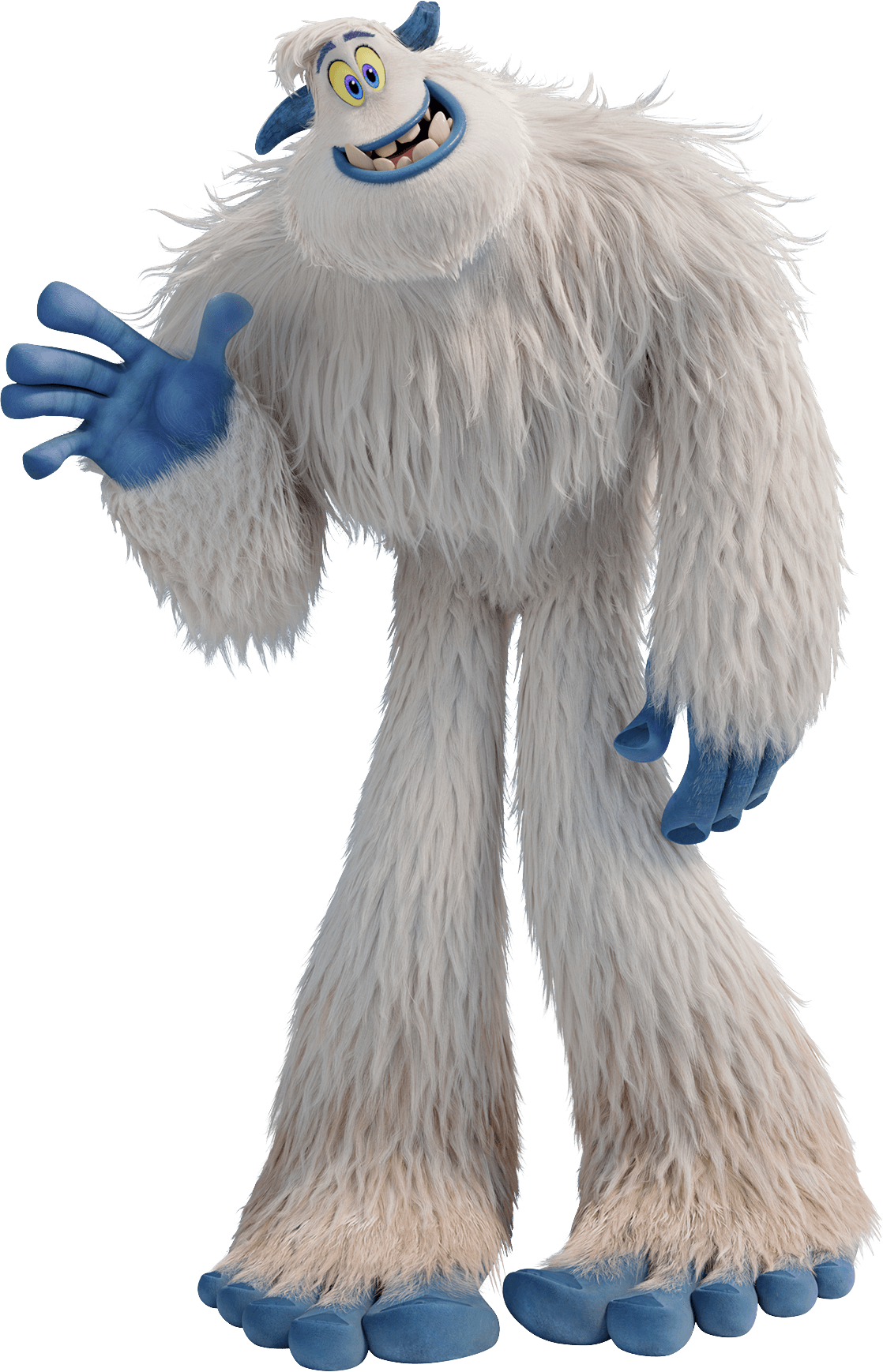 Smallfoot Migo Yeti Waving transparent PNG.