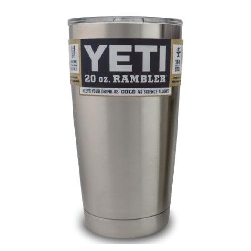 Yeti Rambler 20 oz Tumbler with Lid.