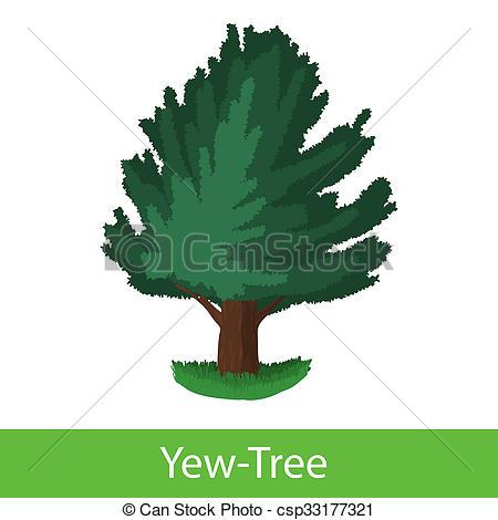 Clip Art of Yew.