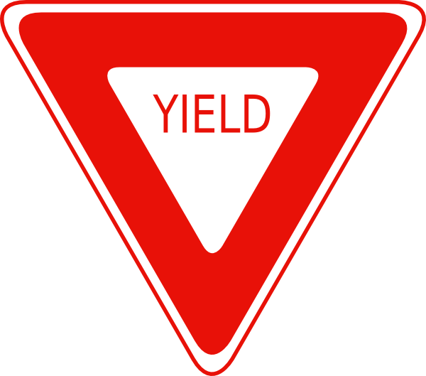 Yield Sign Clipart.