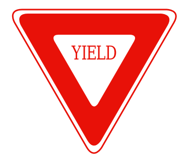 Yellow Yield Sign Clipart.