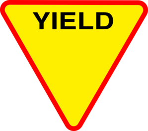 Yield clipart.