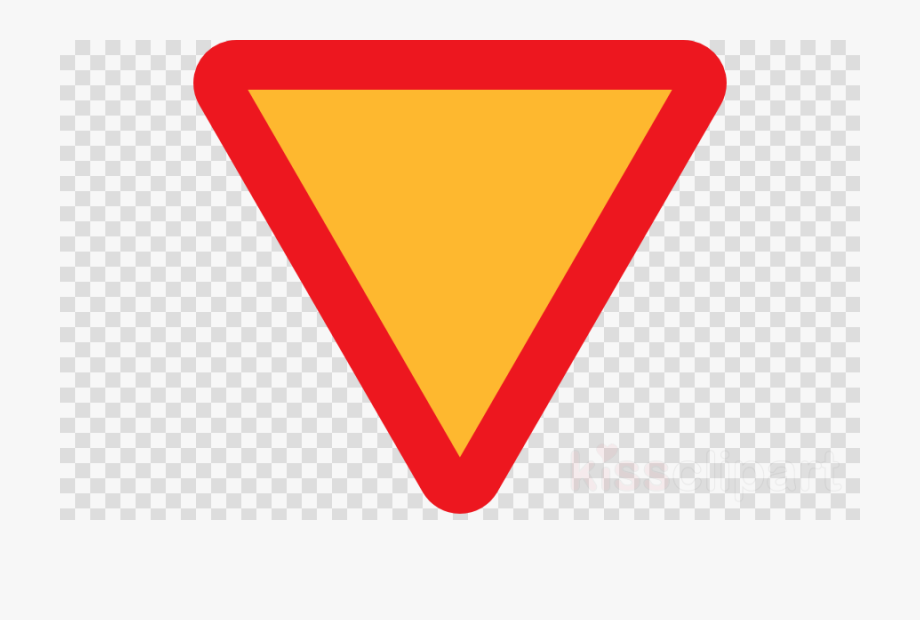 Red And Yellow Road Sign Clipart Traffic Sign Yield.