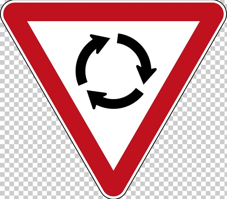 Roundabout Road Signs In New Zealand Traffic Sign Yield Sign.