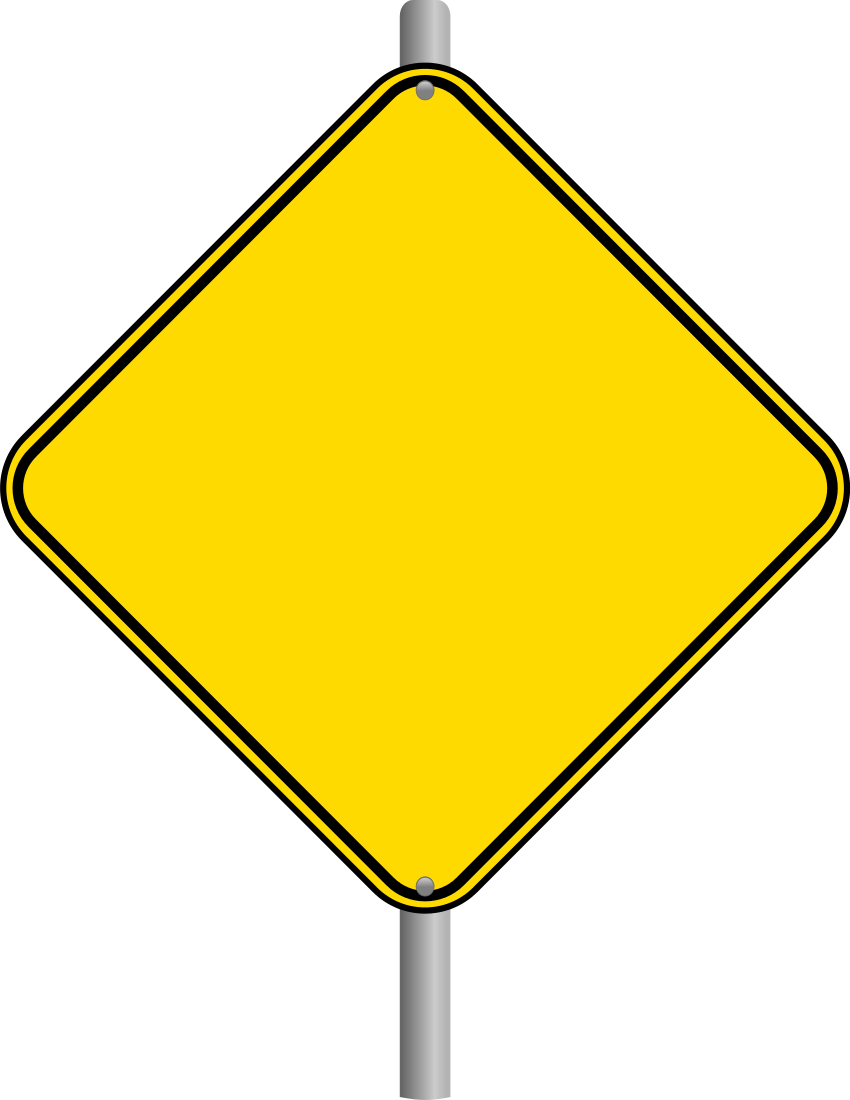 Caution sign warning yield sign clip art at vector clip art.