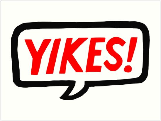 'Yikes! Graphic' Art Print by Natalee Ryan.