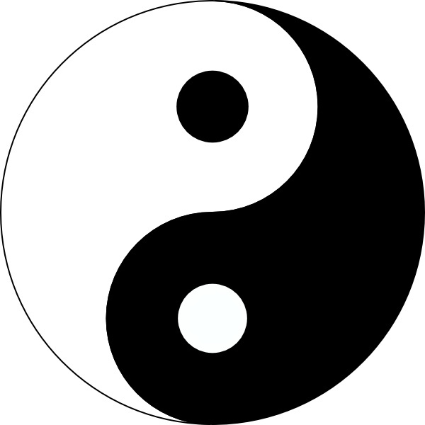 Yin Yang clip art Free vector in Open office drawing svg ( .svg.