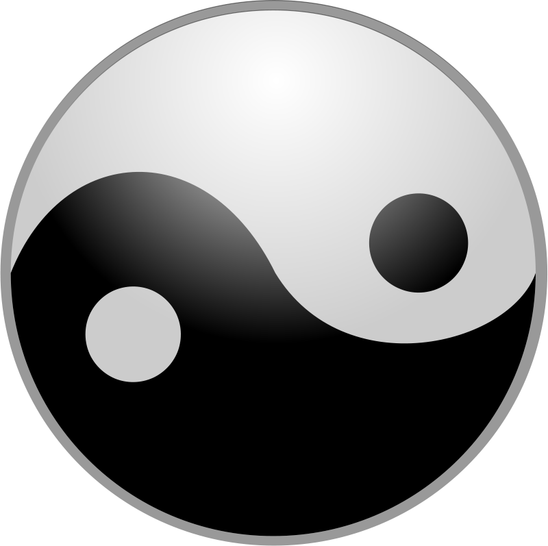 Free Yin Yang Symbol Clip Art.